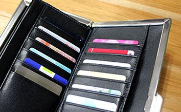 12枚のカードを収納できるカードポケット