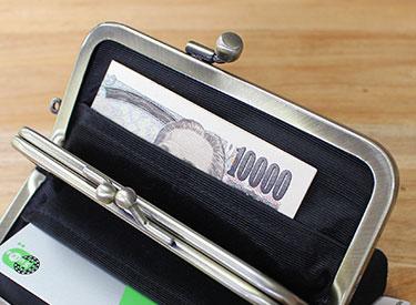 2つ折りの1万円札もスッポリ