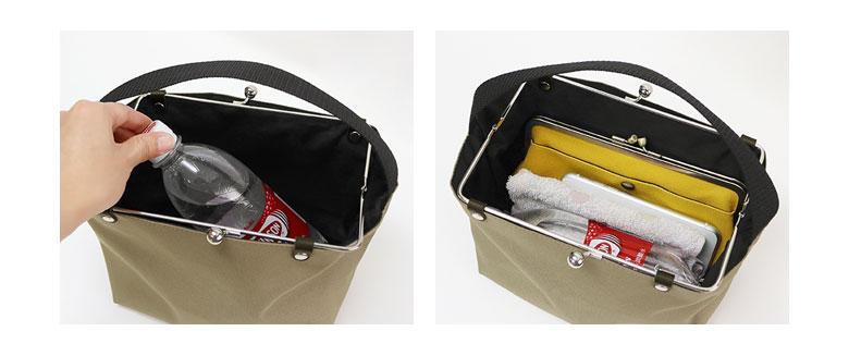 AYANOKOJI Sarei フレームがま口ワンハンドルミニバッグ POINT フレームタイプの口金で180度OPEN