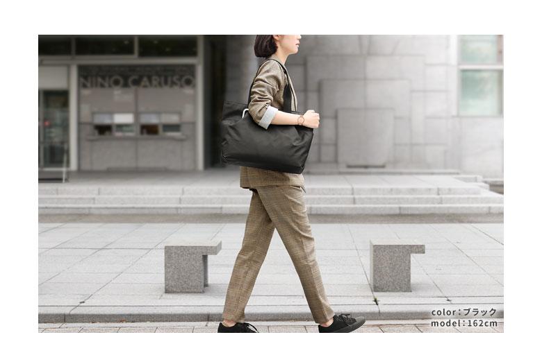 AYANOKOJI Sarei がま口ポケット付きビジネストートバッグ サブメイン ビジネスイメージ ブラック