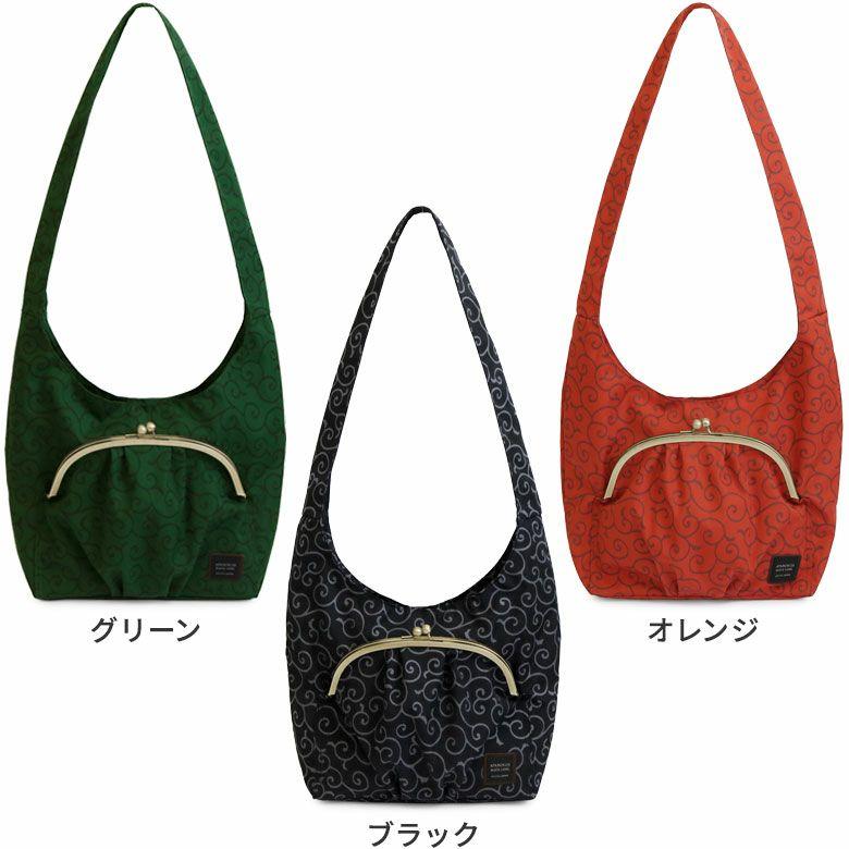 AYANOKOJI 唐草コーデュラ アイテム名を入れる カラーバリエーション見せ グリーン オレンジ ブラック