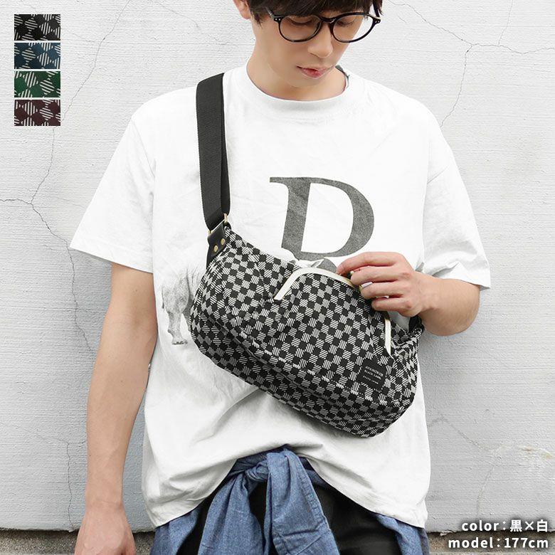 AYANOKOJI 綾市松 くし型がま口ポケット付きショルダーバッグ メインイメージ